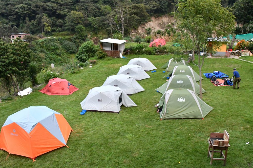 Campsite for Hiking to Machu Picchu