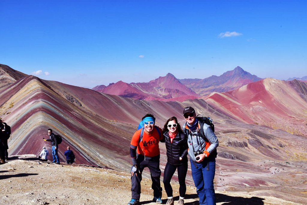 Rainbow Mountain with tour leaders Peru