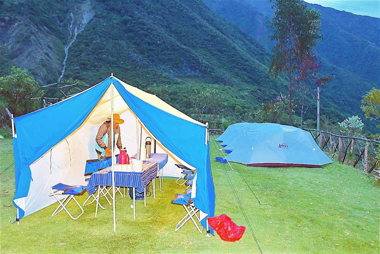 Salkantya trek second day campsite
