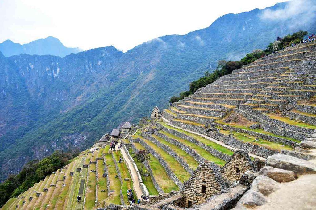 Machu Picchu Granaries and terraces