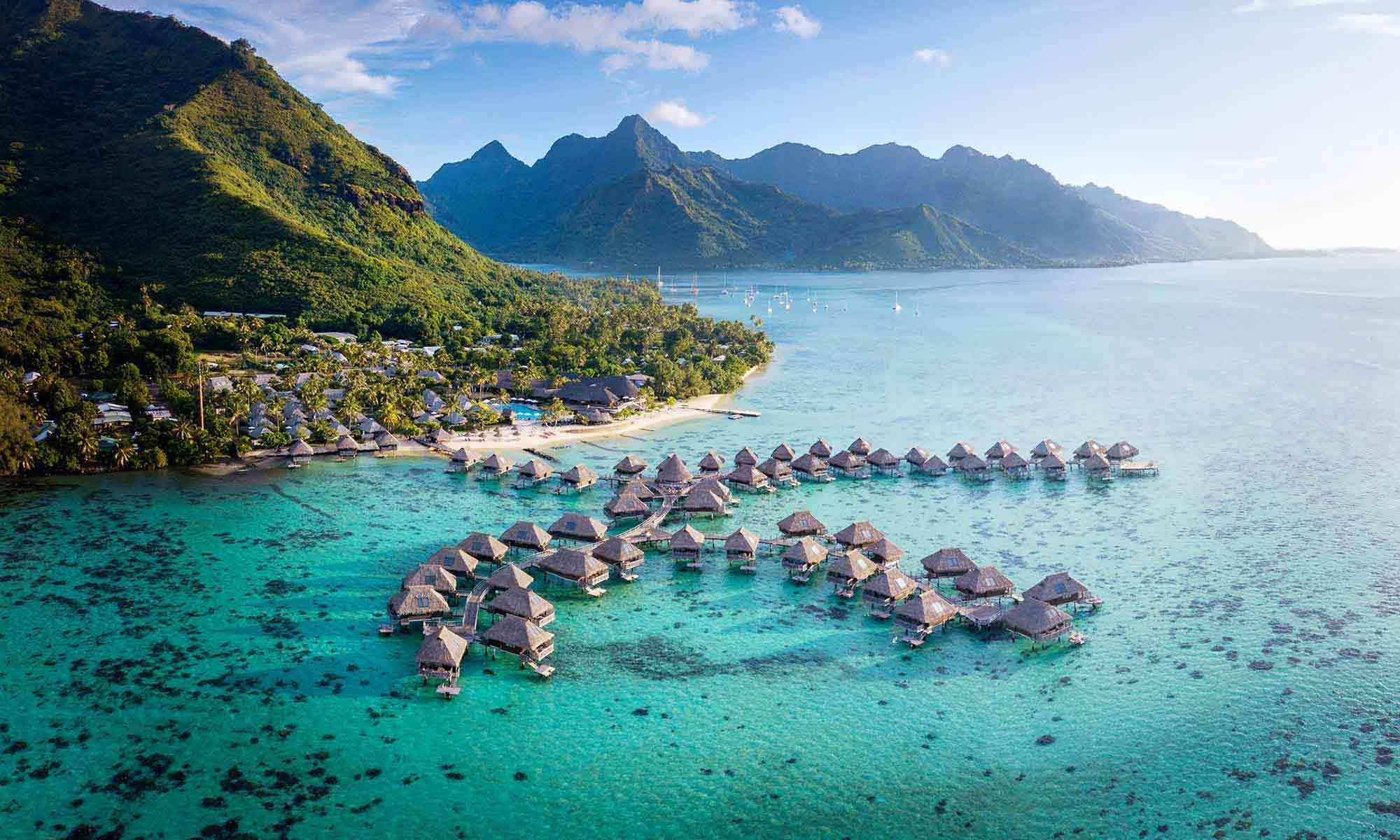 Bora Bora Island Drone